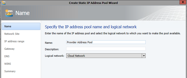 Create IP Pool