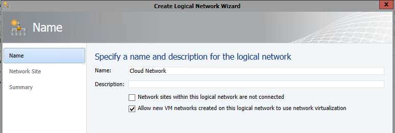 Create Logical Network