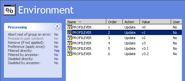 PROFILEVER Environment Variable