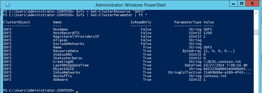 Powershell cluster access point