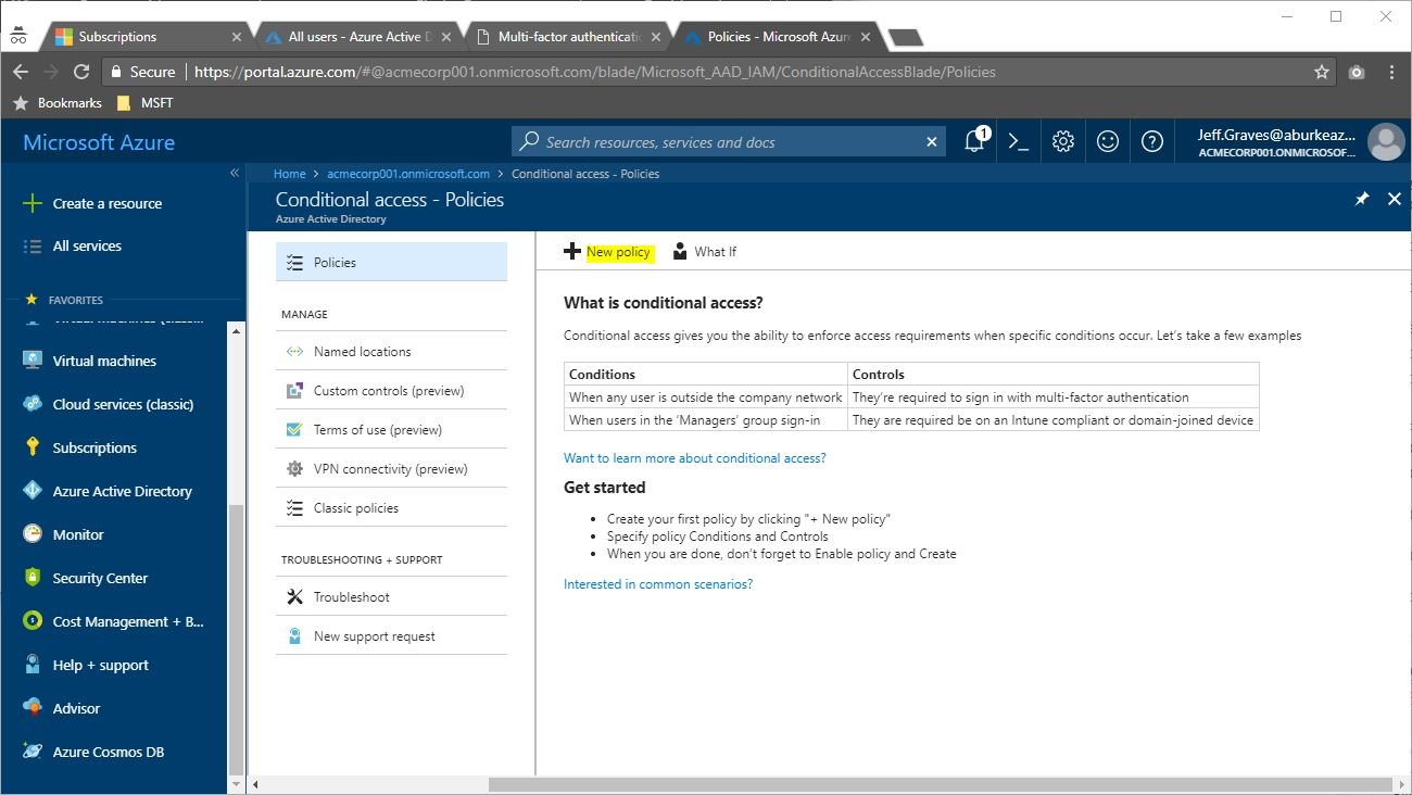 AAD Conditional Access Add Policy | Jeff's Blog